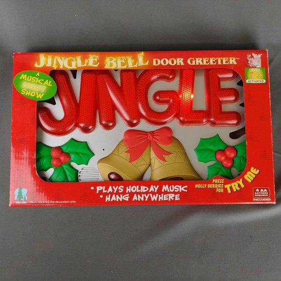 Jingle Bell Door Greeter Lights Up Plays Music